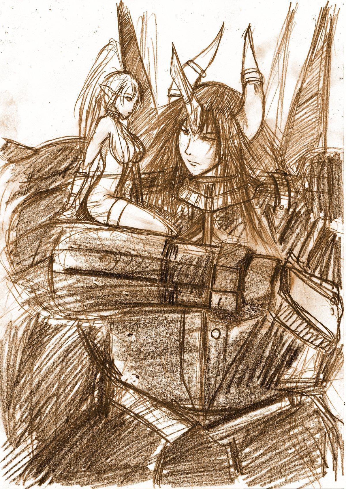 メスブタ子とモルナリル
