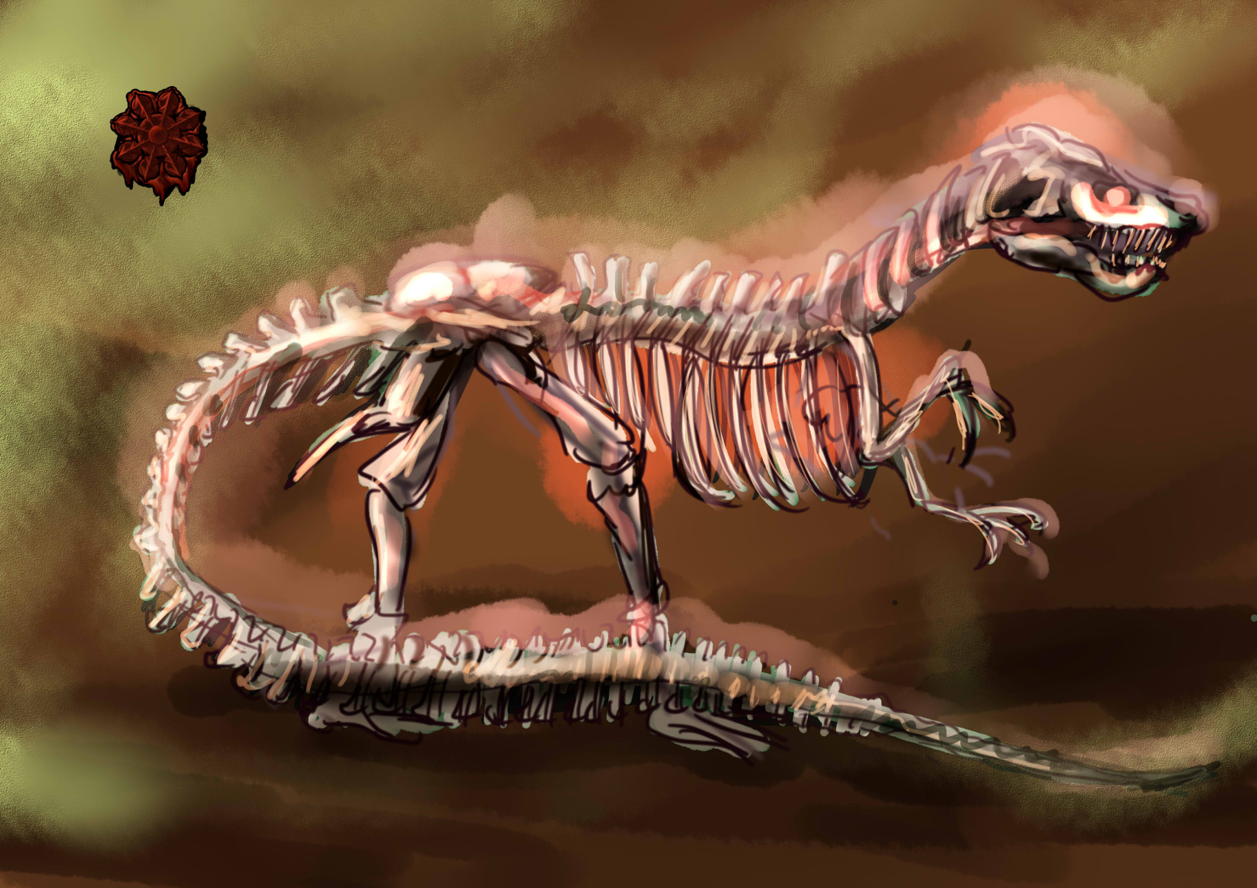 骸骨ティラノサウルス