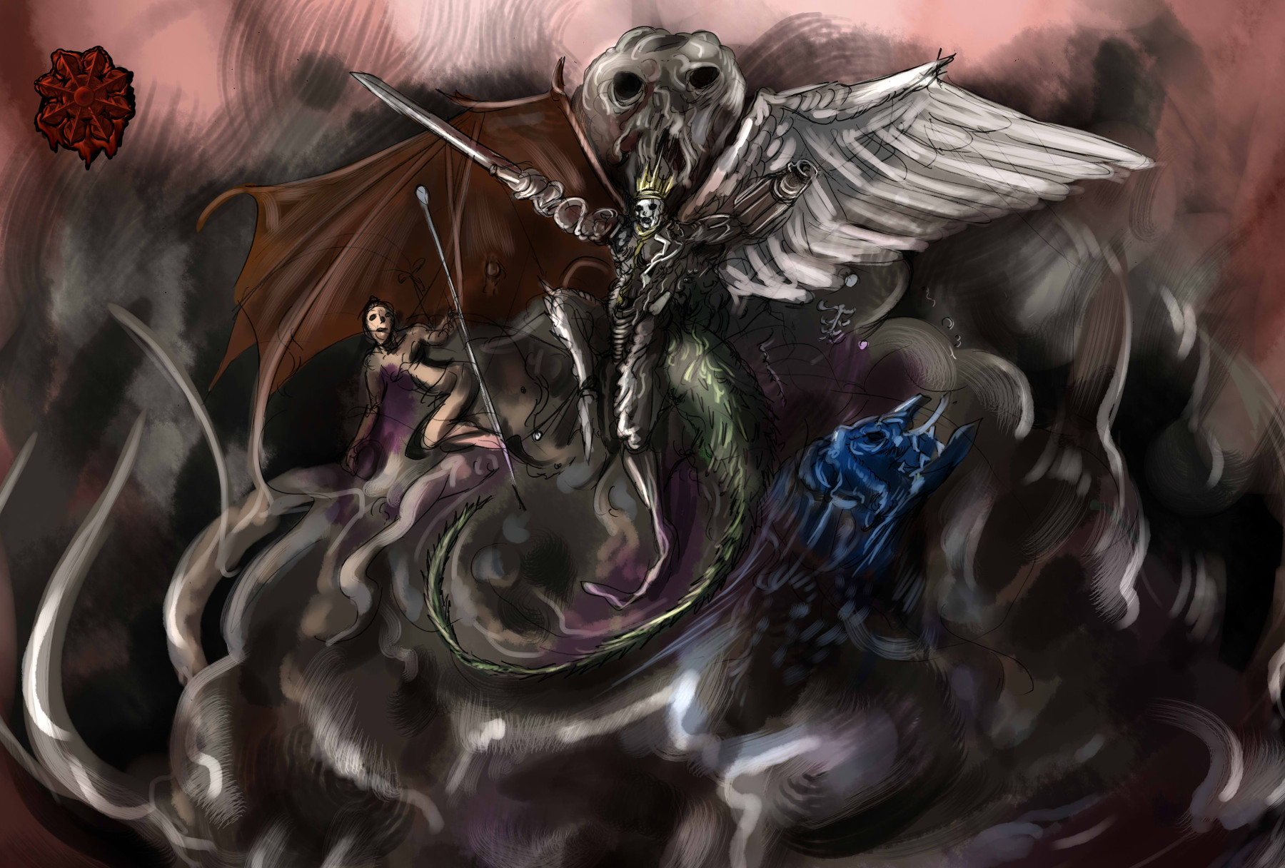巨大サイバーワイアーム天使悪魔リッチ