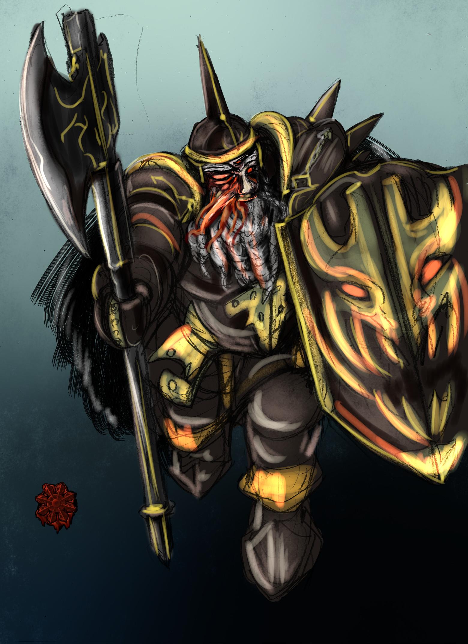 ドワーフ混沌の戦士男