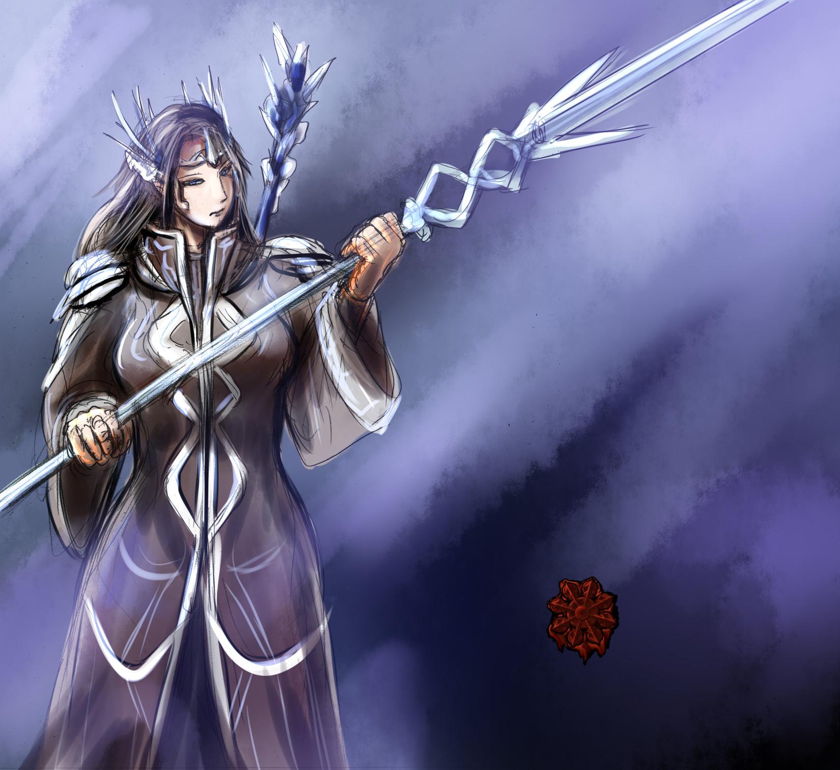ハイエルフ魔法戦士女