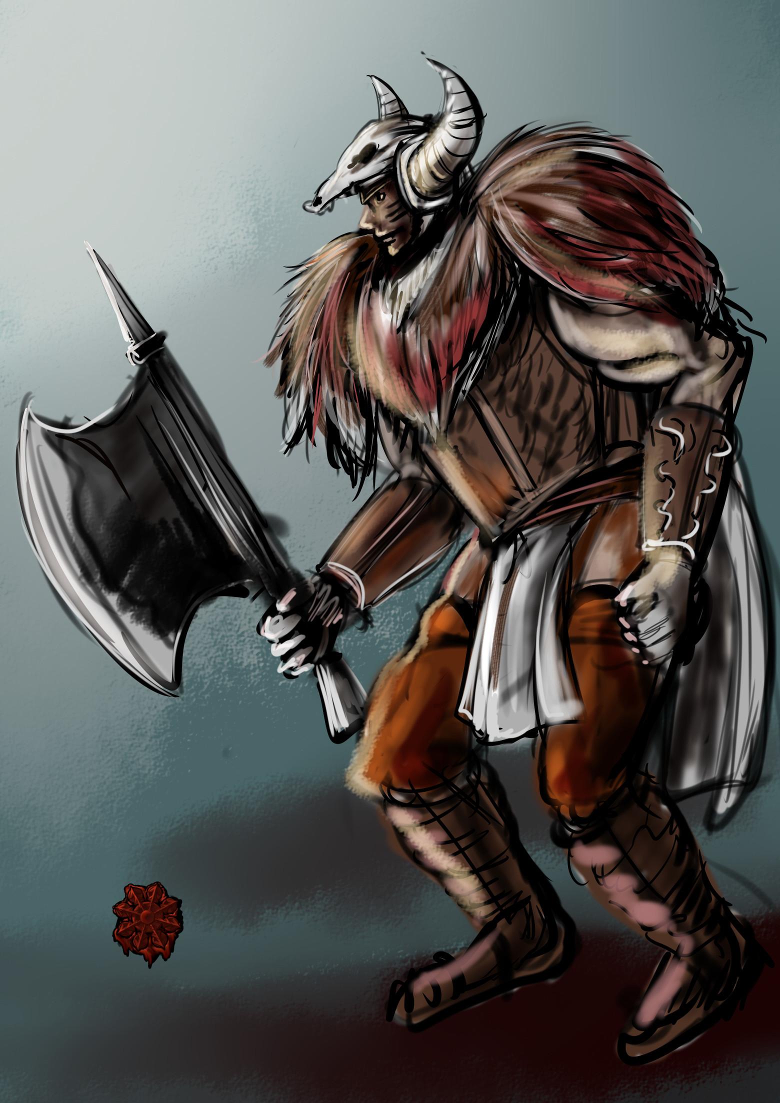 野蛮人戦士男