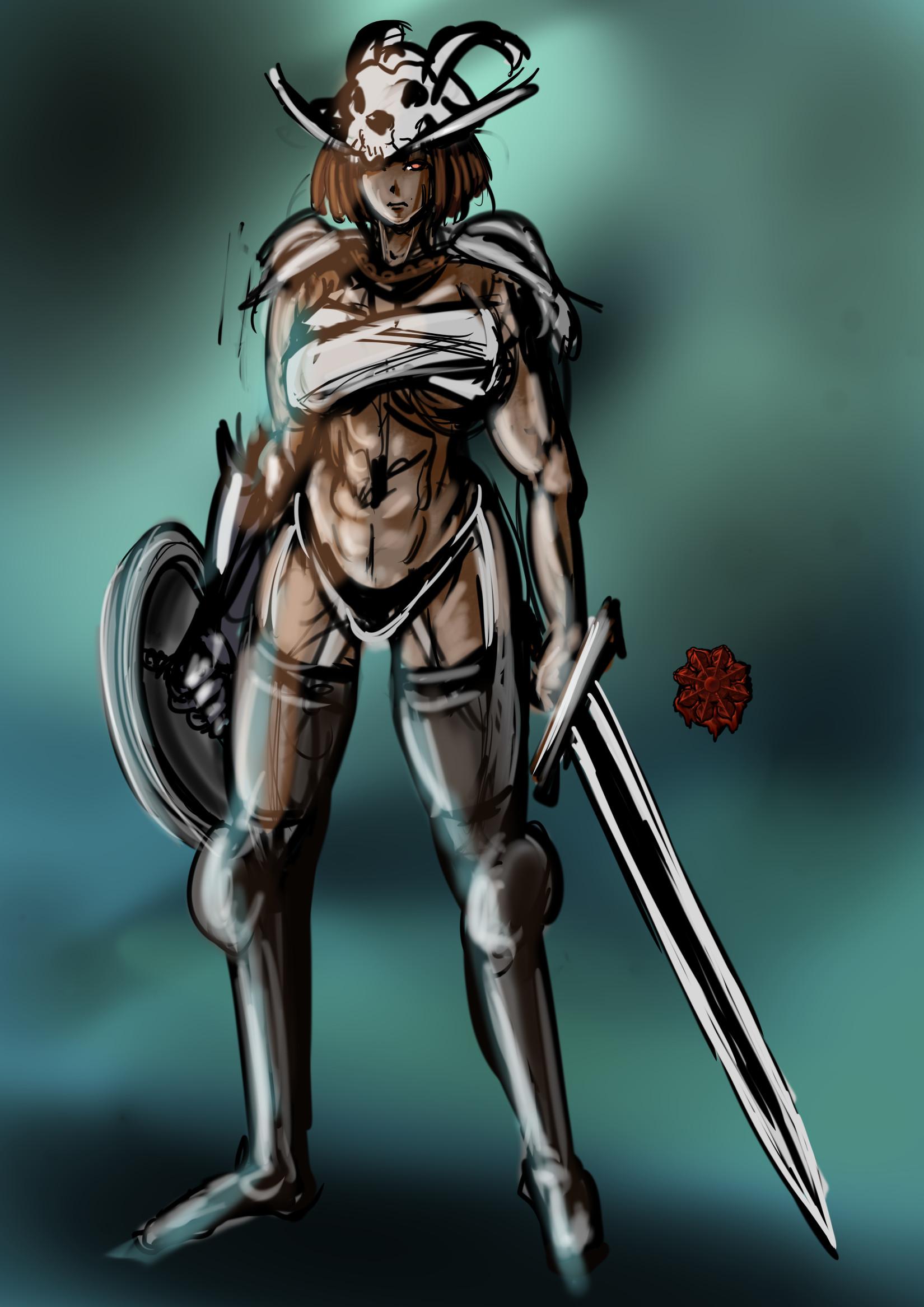 セクシーギャル野蛮人戦士