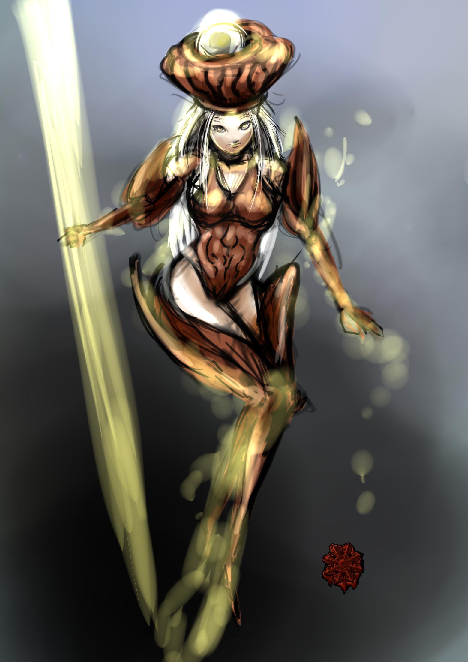 エルフ系超能力者女
