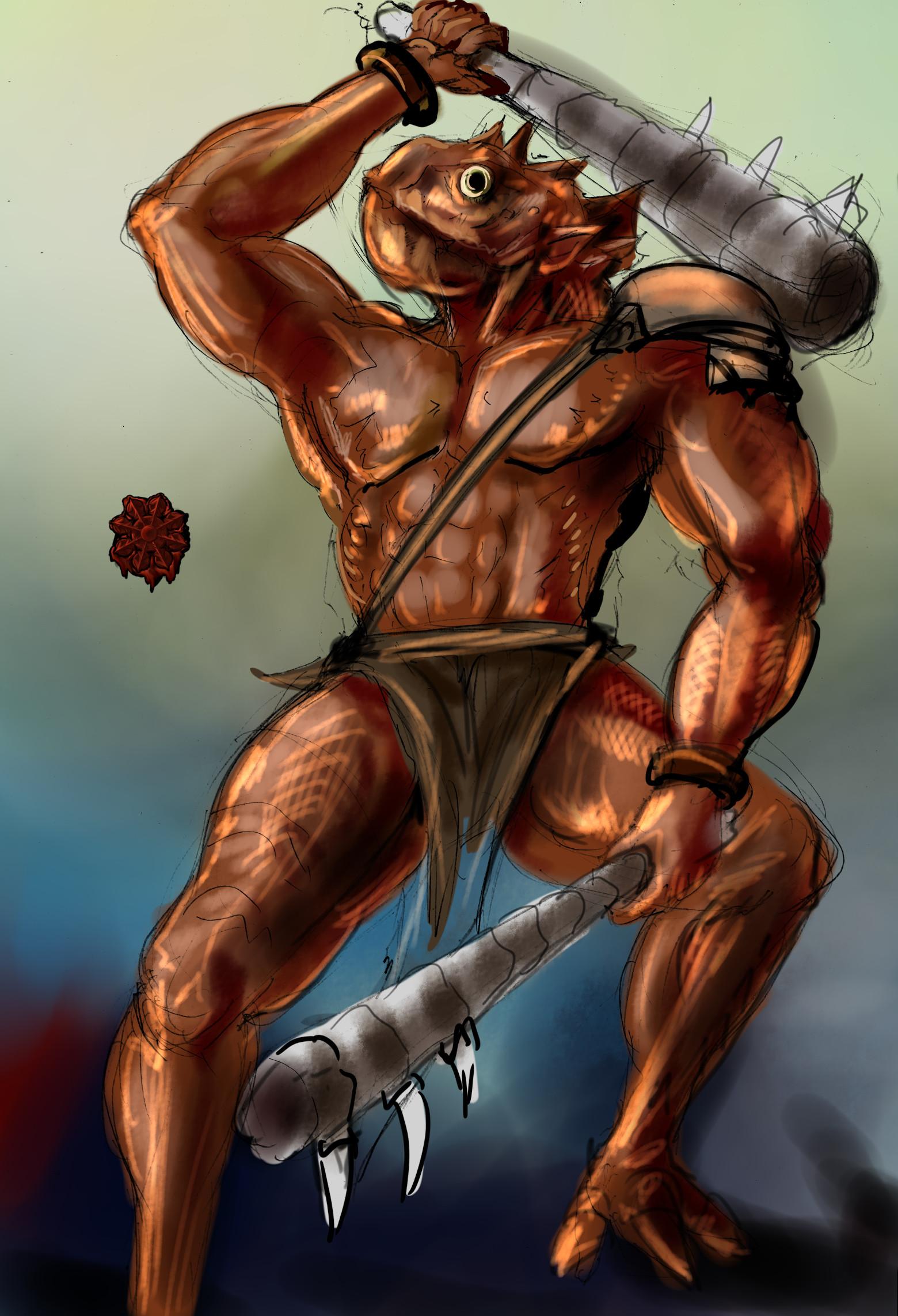 戦士系マーフォーク(インスマウス出身)