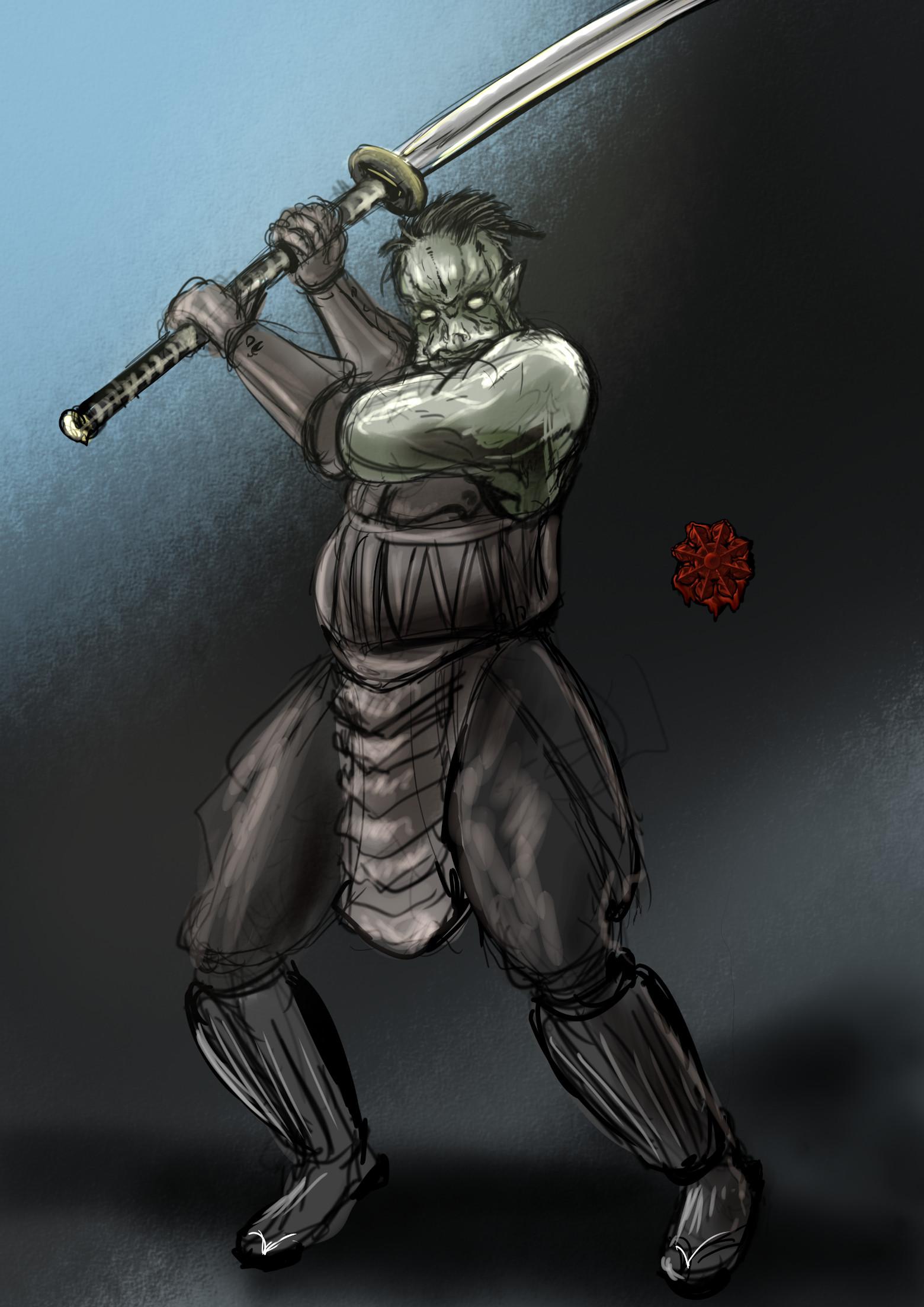 ハーフトロル剣術家