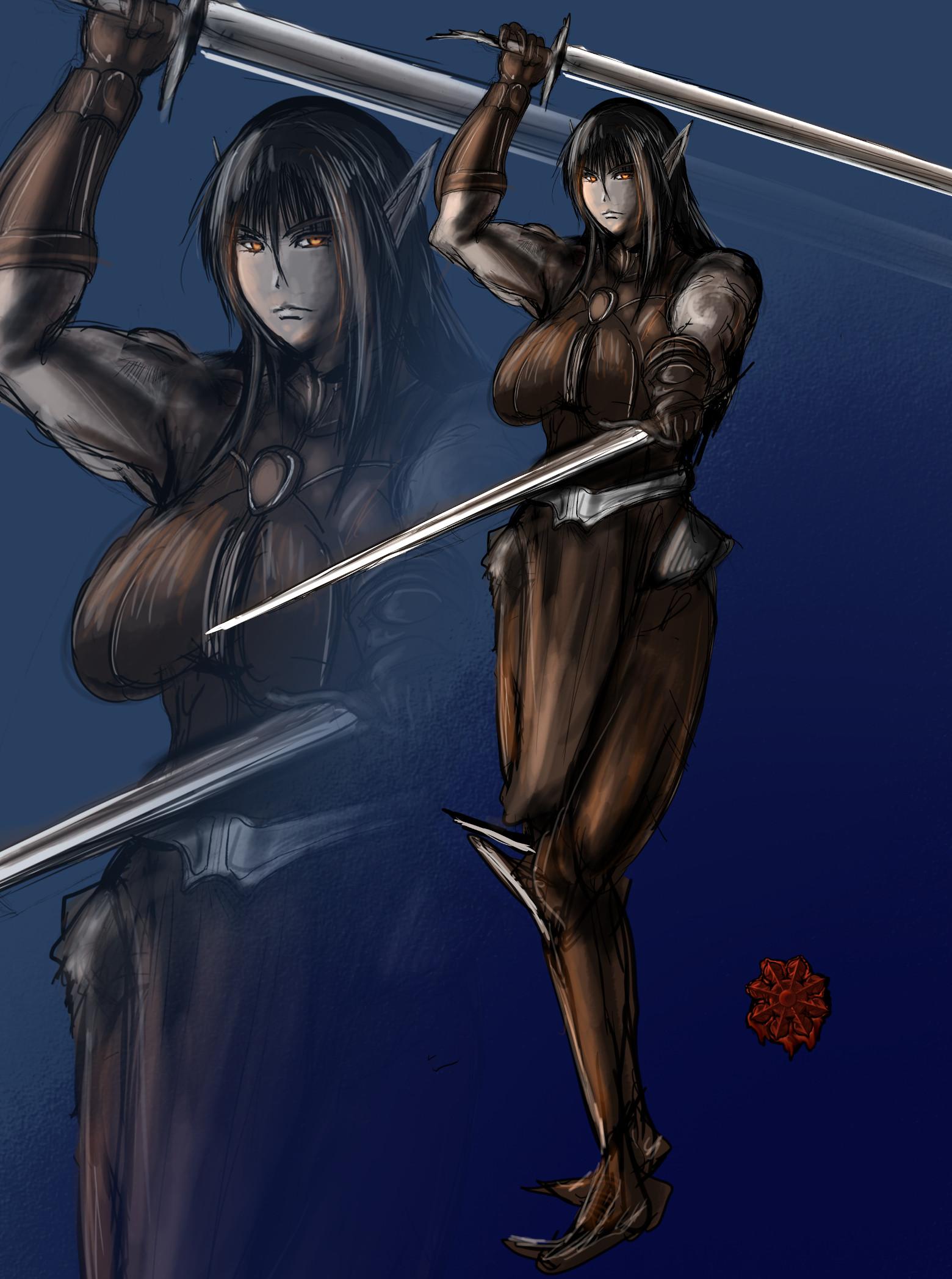 ダークエルフ戦士女