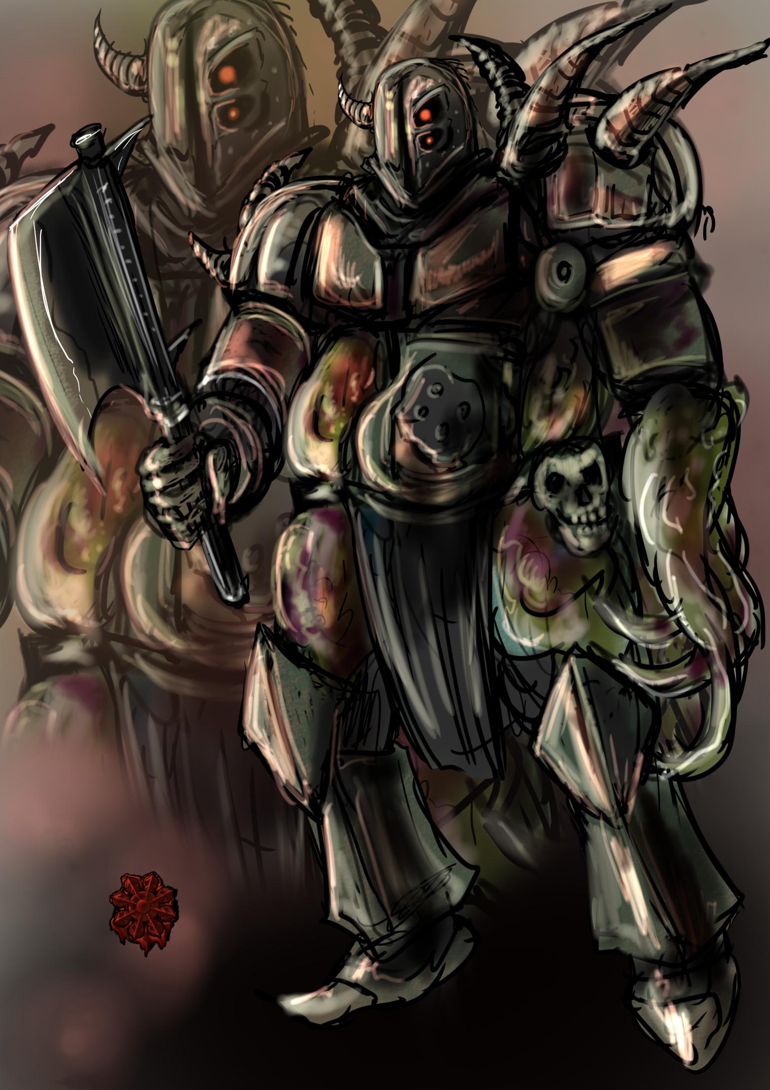 ハーフオーガ混沌の戦士男