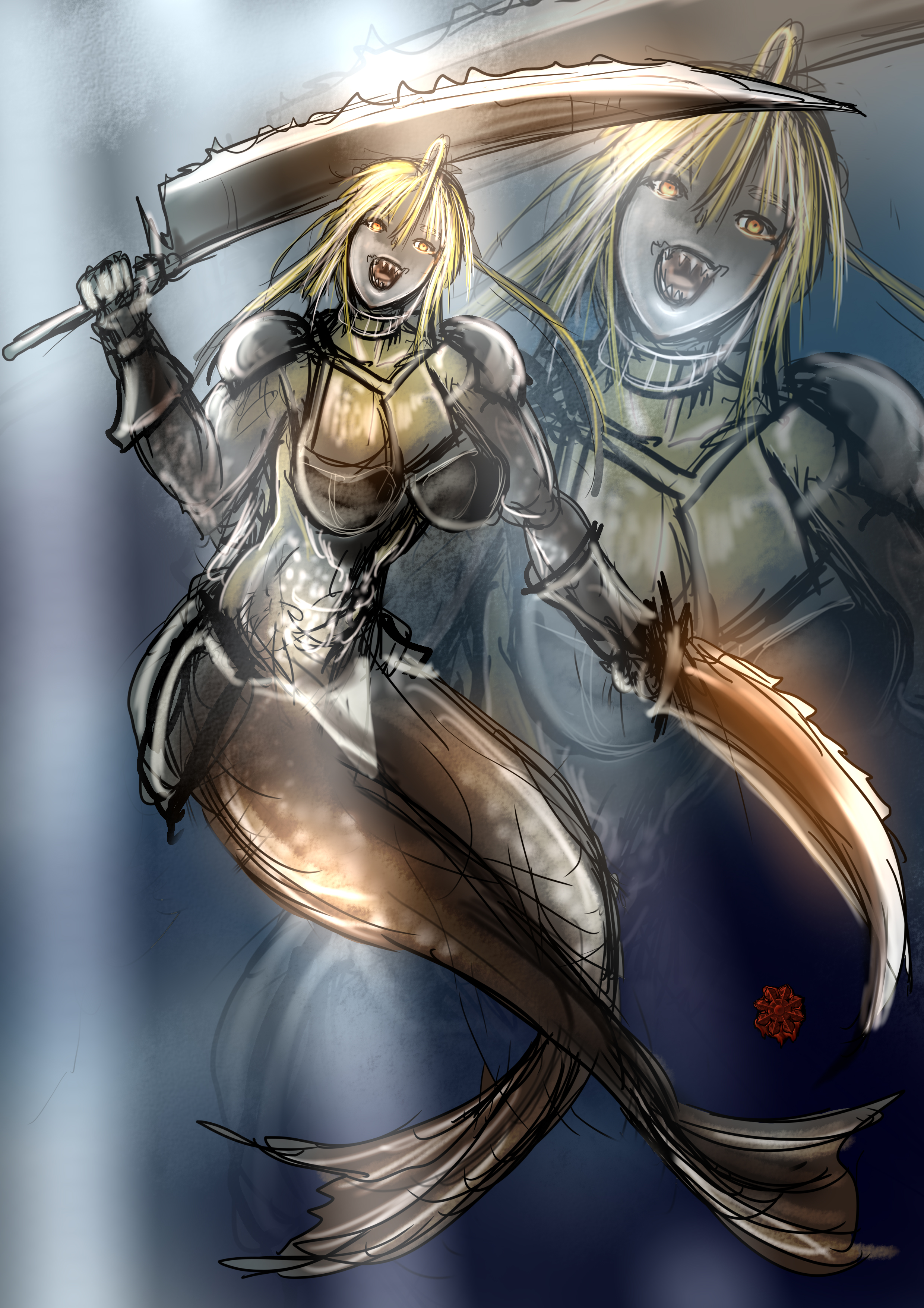 マーフォーク狂戦士女