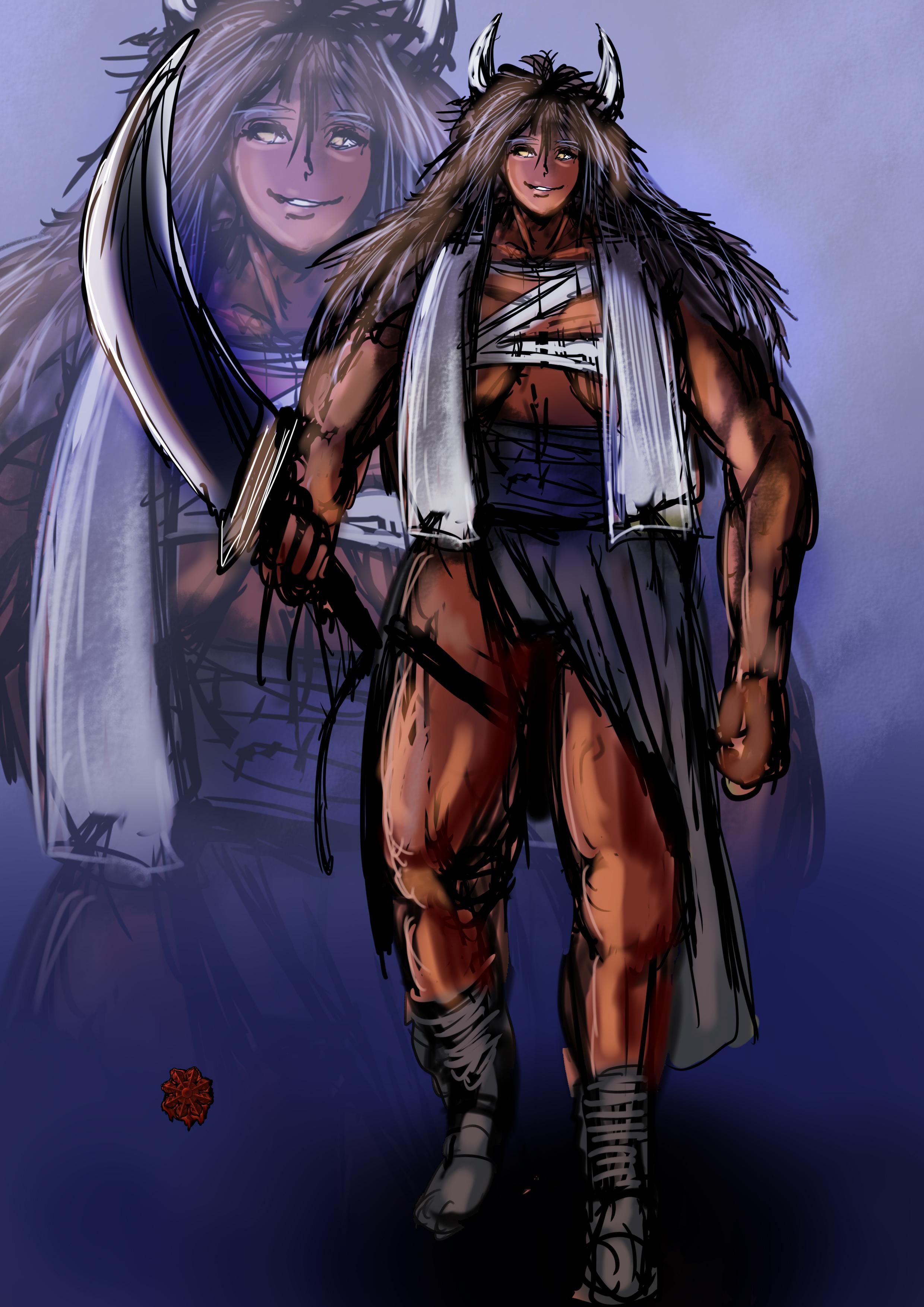 ハーフオーガ戦士女